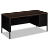 HON HON® Metro Classic Series Single Pedestal L Workstation Desk HON P3265RMOP
