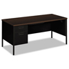 HON HON® Metro Classic Series Single Pedestal L Workstation Desk HON P3266LMOP
