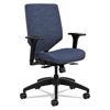 hon: Solve Series Upholstered Back Task Chair, Midnight