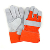 Safety-zone-leather-gloves: Hospeco - Orange Cuff Leather Palm Gloves