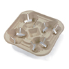 Huhtamaki Chinet® StrongHolder® Molded Fiber Carriers and Trays HUH FLURRY