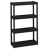 metal shelving units: Iceberg Rough N Ready Four-Shelf Open Storage System