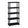 metal shelving units: Iceberg Rough N Ready Five-Shelf Open Storage System