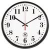 Chicago Lighthouse Chicago Lighthouse Black ATOMIC Slimline Clock ILC 67300302
