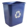 Impact Impact® Soft-Sided Recycle Logo Plastic Wastebasket IMP 7702BLUR