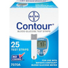 Glucose: Ascensia Diabetes Care - Bayer Contour Blood Glucose Test Strip (25 count), 25/BX