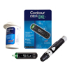 Glucose: Ascensia Diabetes Care - Contour Next ONE Blood Glucose Meter With Bluetooth, Includes Lancing Device and Lancets, 1/EA