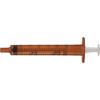 BD Oral Syringe with Tip Cap 1mL, Amber, 500/CS IND58305207-CS