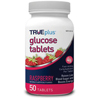 Nutritionals: Trividia - TRUEplus Glucose Tablets 50 count, Raspberry, 50/BX