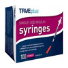 Trividia Trueplus Single-Use Insulin Syringe, 31G x 5/16, .3mL, 100/BX IND 67S4H01A31100-BX