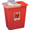 Cardinal Health SharpSafety Sharps Container with Hinged Lid, Red, 8 Gallon, 1/EA IND 688980-EA