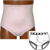 Options Ostomy Support Barrier Ladies' Basic with Built-In Barrier/Support, Soft Pink, Right-Side Stoma, Large 8-9, Hips 41