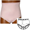 Options Ostomy Support Barrier Split-Lace Crotch with Built-In Barrier/Support, Soft Pink, Right-Side Stoma, X-Large 10, Hips 45 - 47, 1/EA IND 8081001XLR-EA