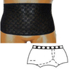 Options Ostomy Support Barrier Split-Lace Crotch with Built-In Barrier/Support, Black, Left-Side Stoma, Large 8-9, Hips 41 - 45, 1/EA IND 8083002LL-EA