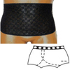 Options Ostomy Support Barrier Split-Lace Crotch with Built-In Barrier/Support, Black, Right-Side Stoma, Large 8-9, Hips 41-45, 1/EA IND 8083002LR-EA