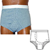 Options Ostomy Support Barrier Mens Basic With Built-In Barrier/Support, Gray, Right Stoma, Large 40-42, 1/EA IND 8090006LR-EA