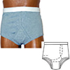 Options Ostomy Support Barrier Mens Basic With Built-In Barrier/Support, Gray, Left, Medium 36-38, 1/EA IND 8090006ML-EA