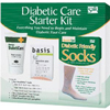 Ring Panel Link Filters Economy: Salk - Diabetic Foot Care Starter Kit with Cream, Soap, Size 10 - 13 Socks, One Pair