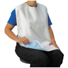 A-T Surgical Adult Terry Bib Crumb Catcher, Plastic Back, 16 x 24, 1/EA IND AF1903WHITE-EA