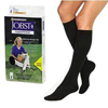 Jobst SensiFoot Knee-High Mild Compression Diabetic Sock Large, Black, One Pair IND BI110868-EA