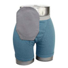 C&S Ostomy Pouch Covers Daily Wear Pouch Cover, Closed End, Fits Flange Opening of 3/4 to 2-1/4, Overall Length 9, Gray, 1/EA IND CX58283-EA