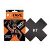 KT Health Tape Pro X, 4 x 4, Black, 15/BX IND KJ4005785-BX