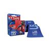 KT Health Synthetic Tape Team USA Pro, 4 x 4, Blue, 20/BX IND KJ9020253-BX