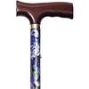 Alex Orthopedic Folding Travel Cane with Fritz Handle, Mauve Floral, 33 - 37, 1/EA IND MNT10505-EA