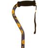 Alex Orthopedic Offset Handle Cane, Celestial, 1/EA IND MNT10910-EA