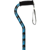 Alex Orthopedic Offset Handle Cane, Blue Peacock, 1/EA IND MNT21163-EA