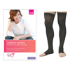 Medi Mediven Comfort Thigh-High with Silicone Top Band, 30-40, Petite, Open, Ebony, Size 3, 1/EA IND NE19453-EA