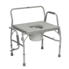 bedpans & commodes: PMI - ProBasic Bariatric Drop Arm Commode, 1/EA