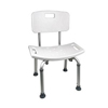 Cardinal Health ProBasics Shower Chair with Back, 250 lb Weight Capacity, REPLACES ZCHSBH02 IND PMIBSCWB-EA