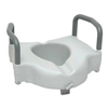 bathroom aids: PMI - ProBasics Raised Toilet Seat with Lock and Arms, 350 lb Weight Capacity, REPLACES ZCHRTS01, 1/EA