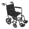 PMI ProBasics Transport Chair Aluminum 19 with 12 Rear Wheels, Black, 1/EA IND PMITCA191612BK-EA