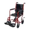 PMI Aluminum 19 Transport Wheelchair Burgundy with Footrest, 1/EA IND PMITCA1916BG-EA