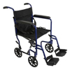 PMI ProBasics Aluminum Transport Chair with Swing Away Foot Rests, 19, Blue, 1/EA IND PMITCA1916BL-EA