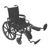 "Rehabilitation: PMI - ProBasics K4 High Strength Wheelchair, 18"" x 16"", 1/EA"