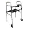 PMI ProBasics Two-Button Folding Walker with Wheels and Roll-Up Seat, 1/EA IND PMIWKAAW2BST-EA