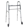 """rehabilitation devices: PMI - ProBasics Economy Two-Button Steel Walker with 5"""" Wheels, Adult, REPLACES ZCH1060, 1/EA"""