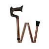 Apex-Carex Adj. Black Folding Cane w/Walnut Finish Derby Hndl, 1/EA IND RMA77300-EA