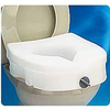 bathroom aids: Apex-Carex - E-Z Locked Raised Toilet Seat, Weight Capacity 300, 1/EA