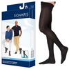 Sigvaris Cotton Thigh with Grip-Top, 20-30, Medium, Long, Closed, Black, 1/EA IND SG232NMLM99-EA