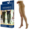 Sigvaris Natural Rubber Left Thigh-High Stocking with Waist Attachment Size L4, Natural, 1/EA IND SG503WL4O77L-EA