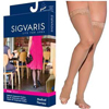 Sigvaris EverSheer Thigh-High with Grip-Top, 30-40, Large, Long, Open, Natural, 1/EA IND SG783NLLO33-EA
