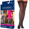 Sigvaris EverSheer Thigh-High with Grip-Top, 30-40, Large, Long, Closed, Black, 2/PK IND SG783NLLW99-PK