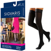 Sigvaris EverSheer Thigh-High with Grip-Top, 30-40, Medium, Long, Closed, Black, 2/PK IND SG783NMLW99-PK