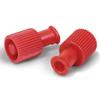 needles: Truecare - Red Syringe Locking Caps, Dual-Function, 100/BX