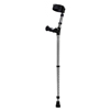 Walk Easy Adult Forearm Crutches with Ergonomic Grip, Full Cuff, Black, 1/EA IND WLK495N-EA