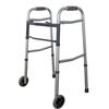 "Walkers: Cardinal Health - Two-Button Folding Walker with 5"" wheels"